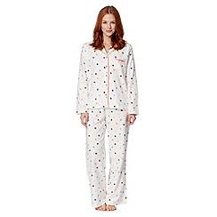 Presence - Cream spotted pyjama set