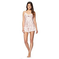 J by Jasper Conran - Designer pale pink satin cami and shorts pyjama set