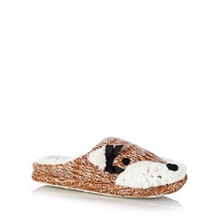 Lounge & Sleep - Light brown fox mule slippers