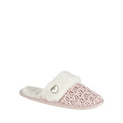 Presence - Pink chunky knit mule slippers