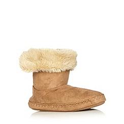 RJR.John Rocha - Designer tan faux fur cuff slipper boots