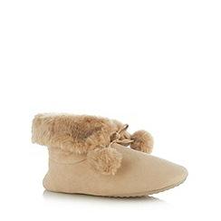 RJR.John Rocha - Designer natural pom pom slipper boots