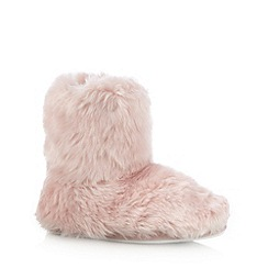 Floozie by Frost French - Pale pink faux fur slipper boots