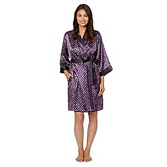 Presence - Purple spotted satin dressing gown