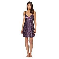 Presence - Purple spotted satin chemise