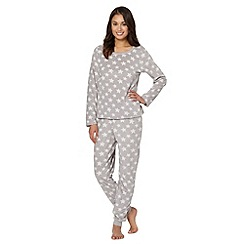 Presence - Grey snowflake fleece pyjama set