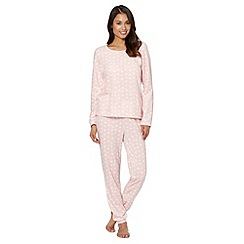 Presence - Pink heart fleece pyjama set