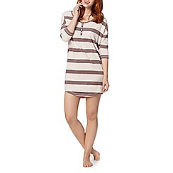 J by Jasper Conran - Designer natural striped night dress
