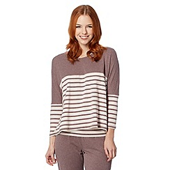 J by Jasper Conran - Designer taupe striped pyjama top