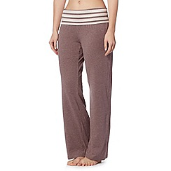 J by Jasper Conran - Designer taupe roll top pyjama bottoms