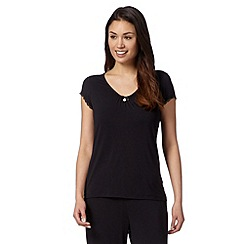 J by Jasper Conran - Designer black jersey pyjama top