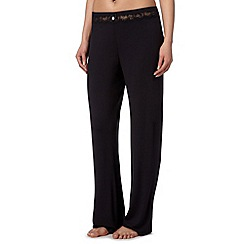 J by Jasper Conran - Designer black jersey pyjama bottoms