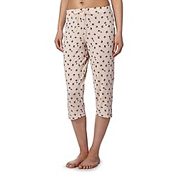 J by Jasper Conran - Designer pale pink swallow print pyjama bottoms