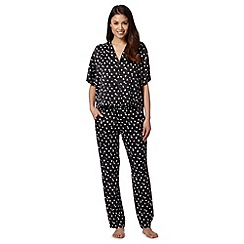 J by Jasper Conran - Designer black swallow print pyjama set