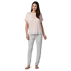J by Jasper Conran - Designer light pink jersey pyjama set