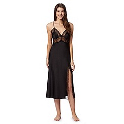 J by Jasper Conran - Designer black satin lace night dress