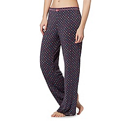 Floozie by Frost French - Dark grey spot bow pyjama bottoms