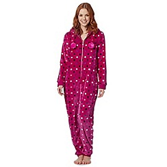 Floozie by Frost French - Pink spotted hood onesie
