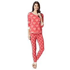 Floozie by Frost French - Dark pink print pyjama set