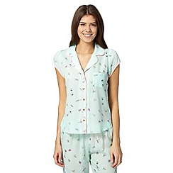 Floozie by Frost French - Pale green bug print pyjama shirt