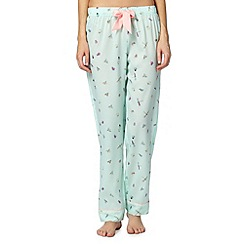 Floozie by Frost French - Pale green bug print pyjama bottoms
