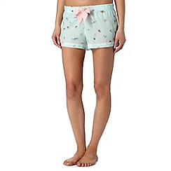Floozie by Frost French - Pale green printed pyjama shorts