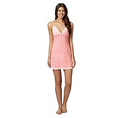 Floozie by Frost French - Bright pink spotted chemise