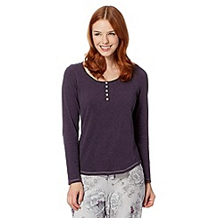 RJR.John Rocha - Designer purple plain long sleeve pyjama top
