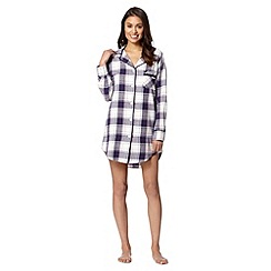 RJR.John Rocha - Designer purple checked night shirt