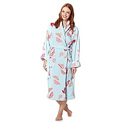 RJR.John Rocha - Designer light blue butterfly printed fleece dressing gown