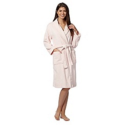 Lounge & Sleep - Pink cotton dressing gown