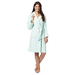 Lounge & Sleep - Aqua cotton dressing gown