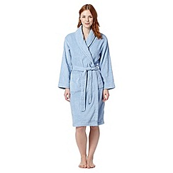 Lounge & Sleep - Pale blue towelling dressing gown