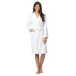 Lounge & Sleep - White spotted dressing gown