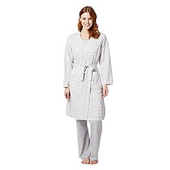 Lounge & Sleep - Grey striped dressing gown