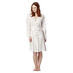 Lounge & Sleep - White swirl spotted dressing gown