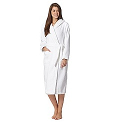 J by Jasper Conran - Designer white hooded dressing gown