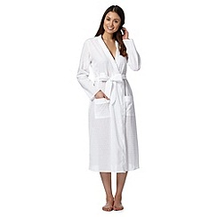 Lounge & Sleep - White cotton classic robe