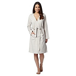 Lounge & Sleep - Natural wave stripe robe