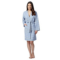 Lounge & Sleep - Pale blue stripe loopback robe