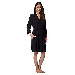J by Jasper Conran - Designer black jersey dressing gown