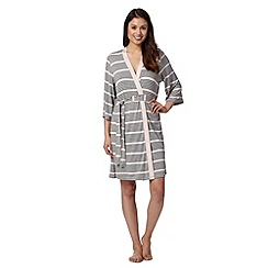 J by Jasper Conran - Designer grey striped jersey dressing gown