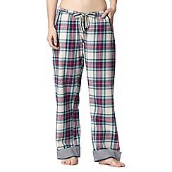 Iris & Edie - Pale green checked pyjama bottoms