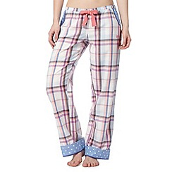 Iris & Edie - Pale blue checked pyjama bottoms