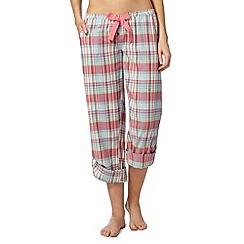 Iris & Edie - Turquoise checked pyjama bottoms