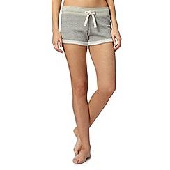 Iris & Edie - Grey stripy sweat pyjama shorts