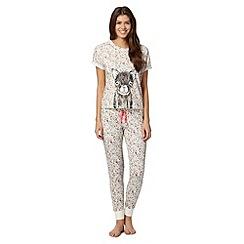 Iris & Edie - Pink floral pyjama set