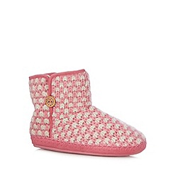 Floozie by Frost French - Pink basket knit slipper boots