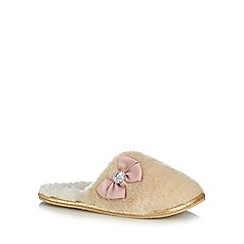 Floozie by Frost French - Natural faux fur gem mule slippers