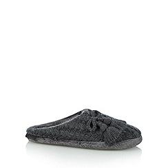 RJR.John Rocha - Designer dark grey tassel trim mule slippers